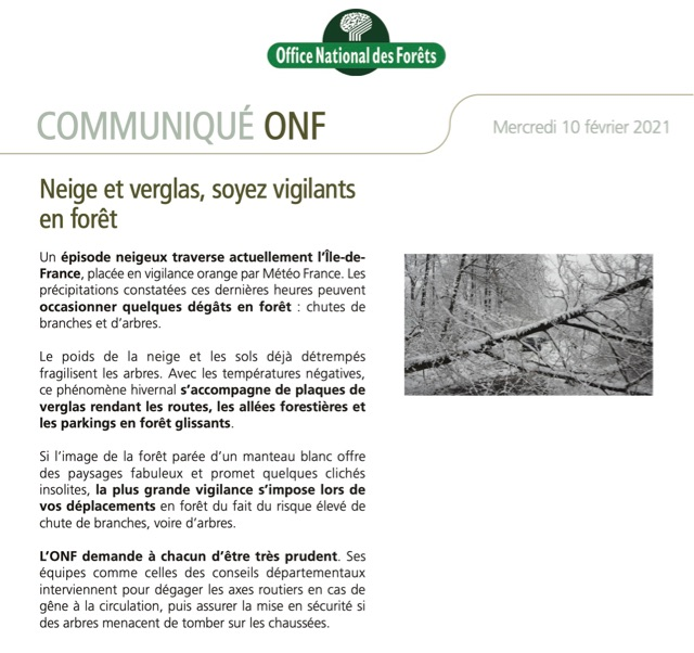 Communique ONF